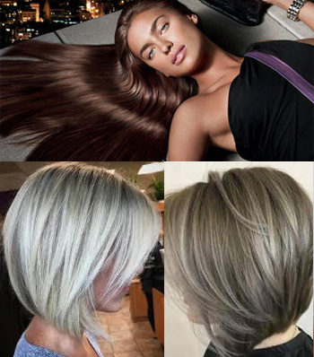 Layered Straight Grey Hair